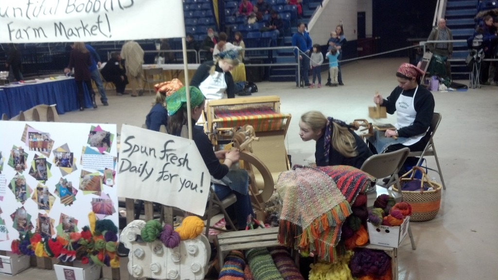 2014 PA Farm Show:  The winning youth team, the Bountiful Bobbins, and their gorgeous shawl (lower right)
