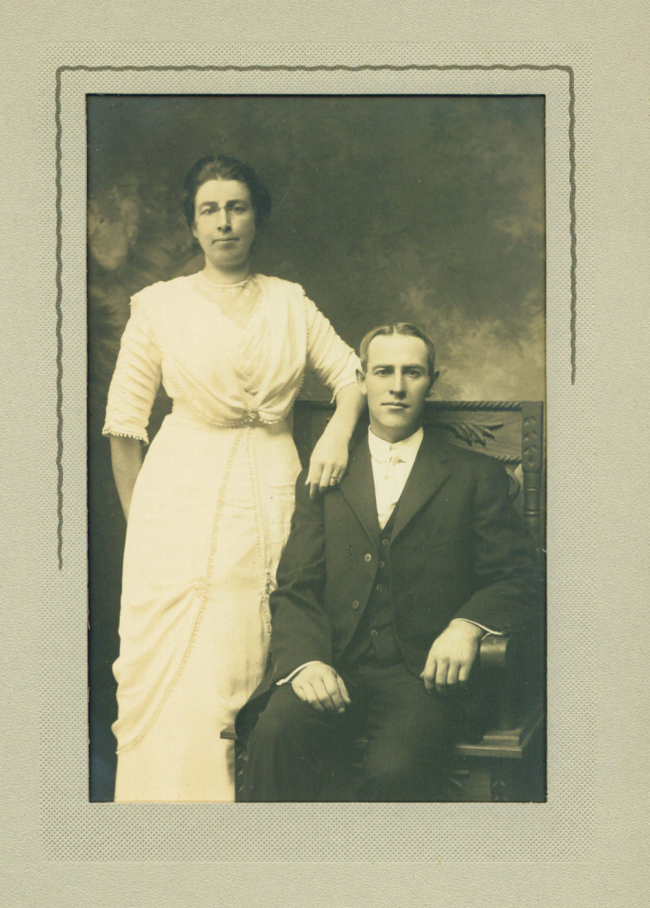 Wedding day, 1912 or 1913